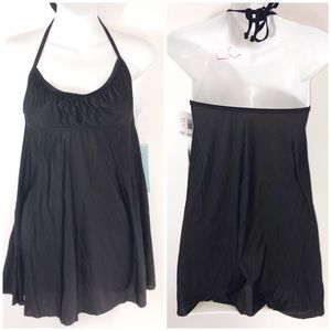 ECO BLK halter dress COVER UP  NEW sz SMALL
